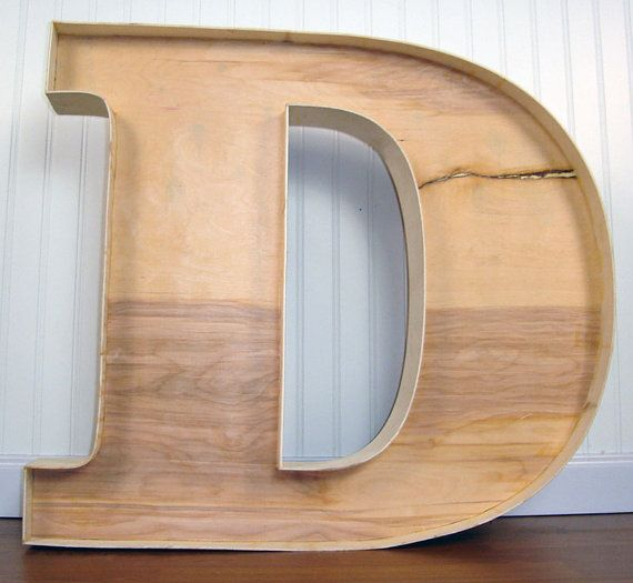 large wooden unfinished letter d by viragodemure on etsy 5000