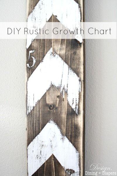 DIY Rustic Growth Chart: Chevron Patterns, Wood Growth Charts Diy, Diy Baby Growth Charts, Diy Gifts, Rustic Growth, Diy Rustic, Diy Wood Growth Charts, Growth Charts Ideas, Wood Crafts Diy Ideas