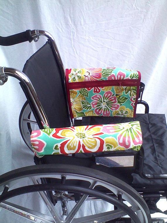 Wheelchair Armrest Pouch/Bag or Walkerlined by ClineCovers on Etsy