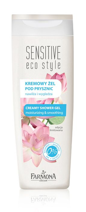 CREAMY SHOWER GEL moisturizing & smoothing | Kremowy żel pod prysznic o wyjątkowo delikatnej konsystencji i przyjemnym zapachu przeznaczony jest do mycia i codziennej pielęgnacji każdego rodzaju skóry, również wrażliwej ♥ http://farmona.pl/produkty/pielegnacja-ciala/sensitive-eco-style/kremowy-zel-pod-prysznic/