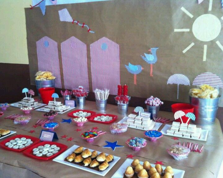 Dise o y decoracion de eventos mesa merienda para for Decoracion para mesa dulce