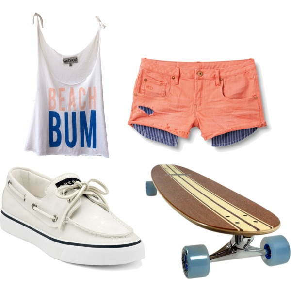 BEACH BUM.. Perfect summer long boarding outfit<3 Reminds me of @Savannah Hall Hall Hall Hall Littleton <3