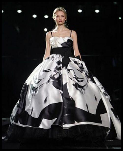 Dolce and Gabbana, FALL 2009 Marilyn Monroe gown. Pop Art ...