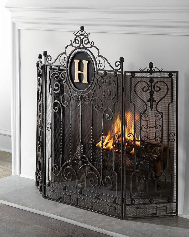 Fireplace Design european home fireplace : 52 best Antique Firescreens images on Pinterest