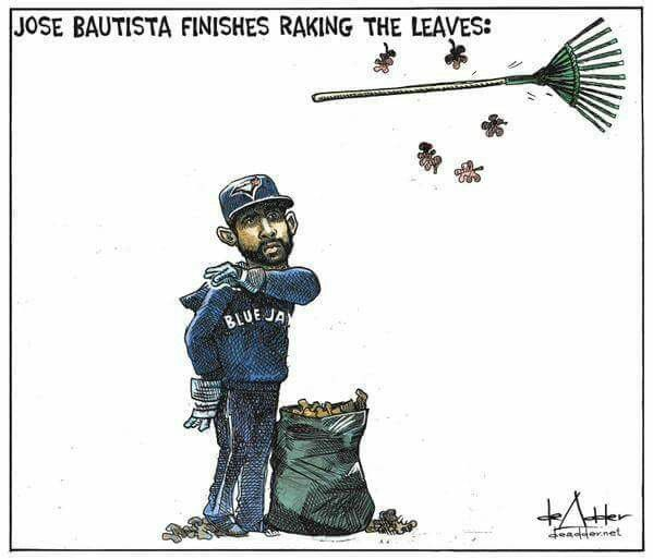 Bautista is done raking leaves!   #LetsGoJays