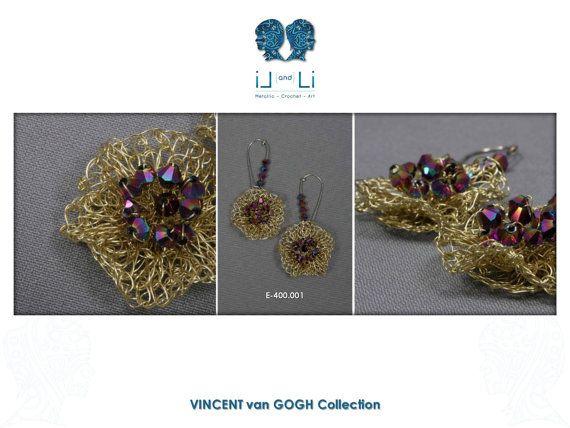 E-400.001-Enameled copper wire crochet earrings by LiandLiCrochet
