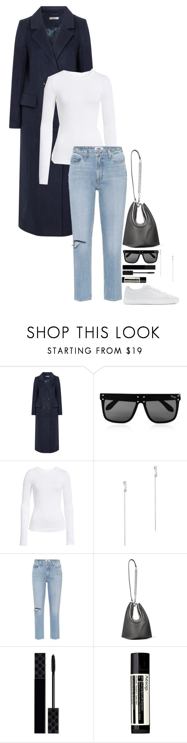 """🎶"" by beautyinl ❤ liked on Polyvore featuring Ganni, Quay, BP., APM Monaco, Paige Denim, Alexander Wang, Gucci, Aesop, rag & bone and StreetStyle"