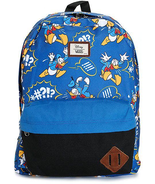 adb1c05edeb Disney x Vans Old Skool II Donald Duck Backpack | My lil man | Backpacks,  Vans old skool, Jansport backpack