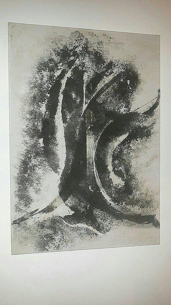 quadro sabbia nera su tela 100x 80 di artemodernaroma su Etsy