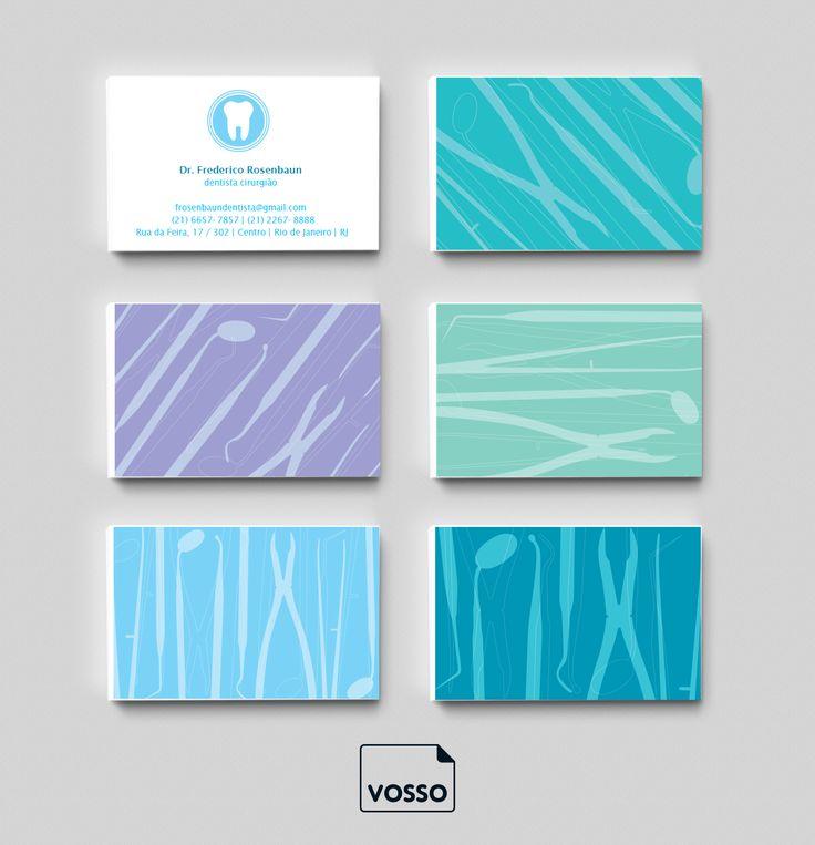 """O modelo """"Odonto"""" é o cartão de visita ideal para dentistas. É só editar os dados e está pronto o seu novo cartão de visita!"""