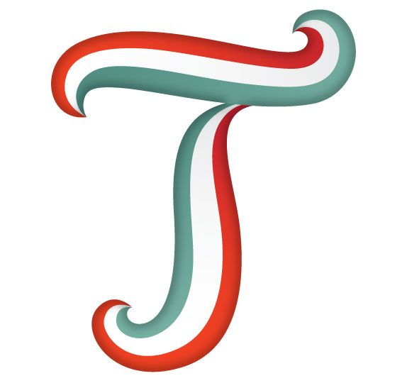 letter T | Be sure to remove the original text letter you are replacing.