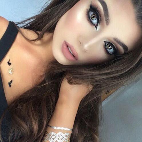 Dramatic eye makeup * Highlight * Blushed * Arabic eyes