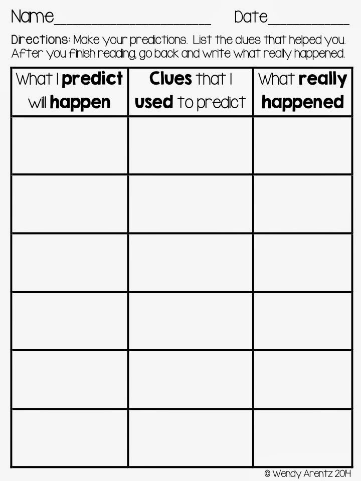 Make, revise and confirm predictions