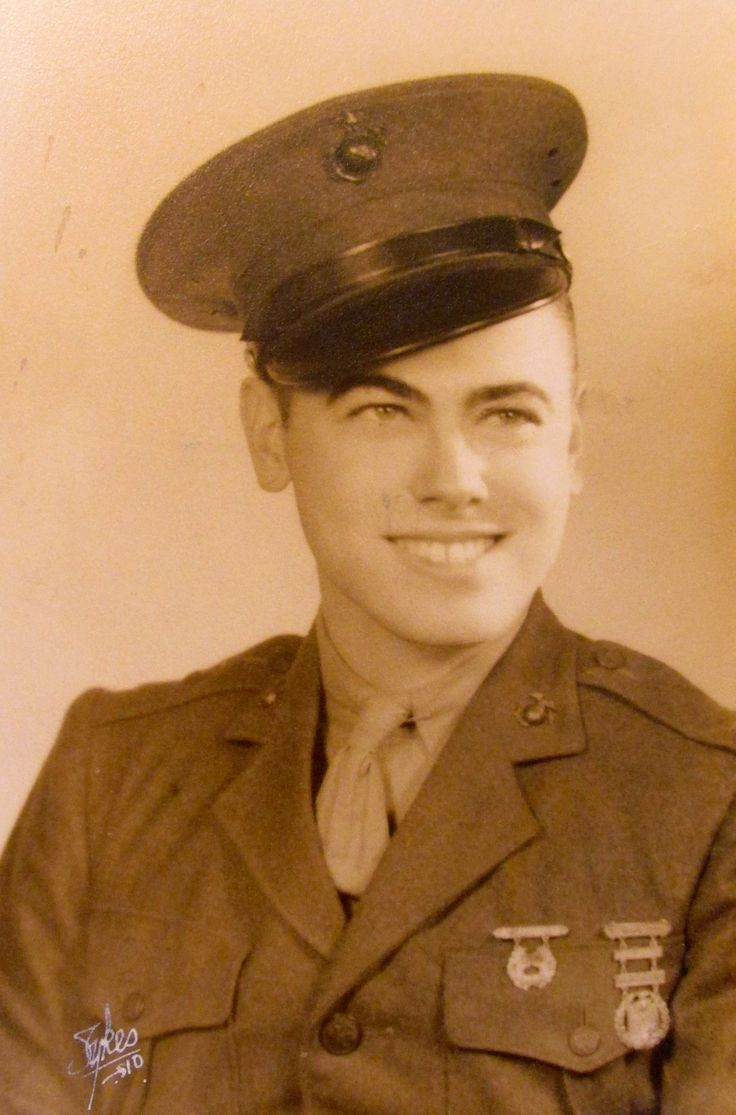 Dick Trott of Venice had just graduated from boot camp in San Diego, Calif. in 1943 when this picture was taken. Photo provided. He worked with 'Navajo Code Talkers' during Battle of Iwo Jima in WW II