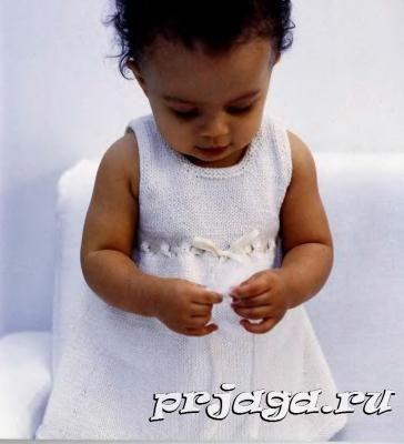 Вязание спицами для детей платья
