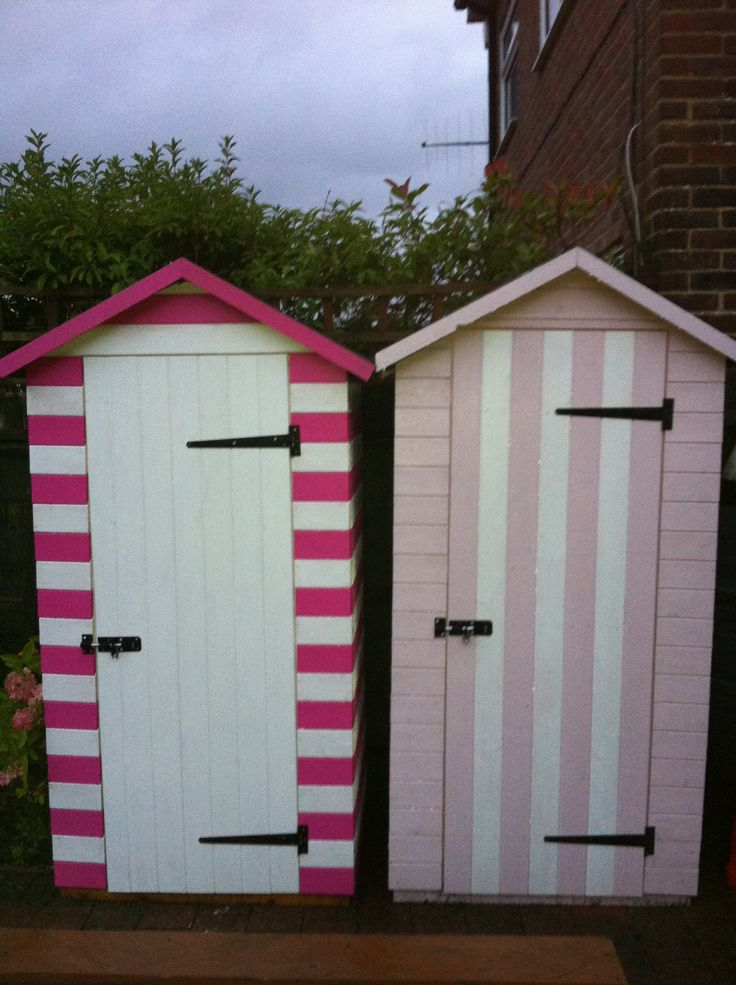 19 best images about beach themed garden ideas on for Storage huts for garden