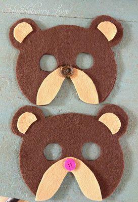 Felt Bear Mask {Free Pattern}