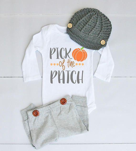 Pumpkin Patch Outfit for Baby Boy - Baby Boy Fall Outfit for Pumpkin Patch Pictures - Boy Pumpkin Patch Onesie® - Fall Pumpkin Bodysuit