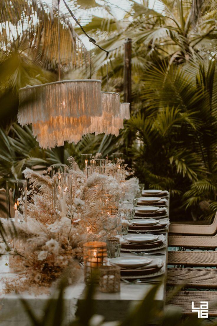 Tropical Wedding Dinner at Acre, Baja