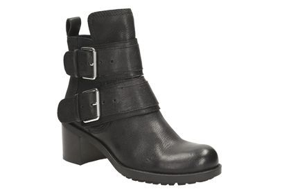 Womens Casual Boots - Pilico Shine in Black Leather from Clarks shoes
