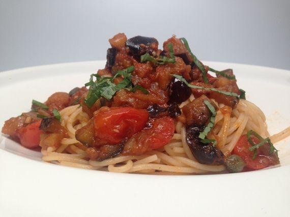 Eggplant Caponata With Pasta Silvia Bianco