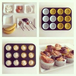 Tvarohovo-banánové muffiny - Fitness Recepty