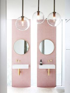 pink bathroom inspo | modern luxury bathroom design ideas for your home  | www.bocadolobo.com #bocadolobo #luxuryfurniture #exclusivedesign #interiodesign #designideas #homedecor #homedesign #decor #bath #bathroom #bathtub #luxury #luxurious #luxurylifestyle #luxury #luxurydesign  #masterbaths #tubs #spa #shower #marble #luxurybathroom