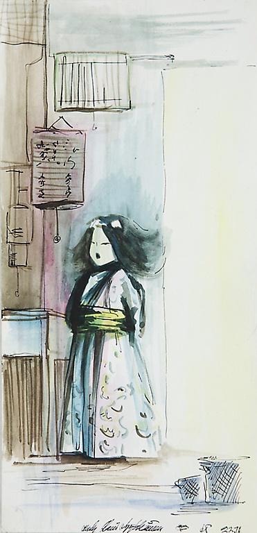 Olli Lyytikäinen (1949-1987) japanilainen tyttö, 1965.
