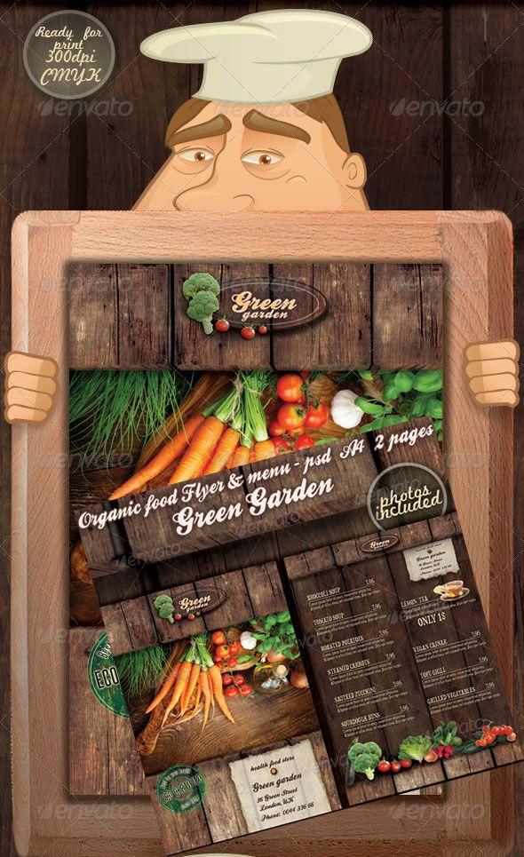 green garden flyer menu restaurant menu designcalendar