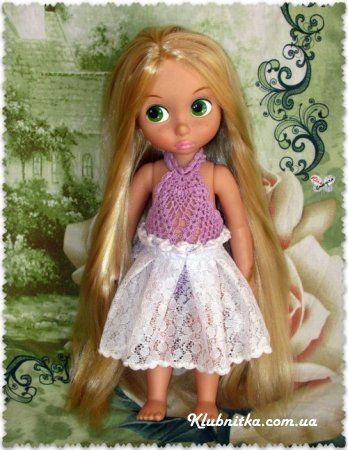 Платье для куклы Рапунцель (Дисней) » Клуб-Нитка - вязание спицами и не только