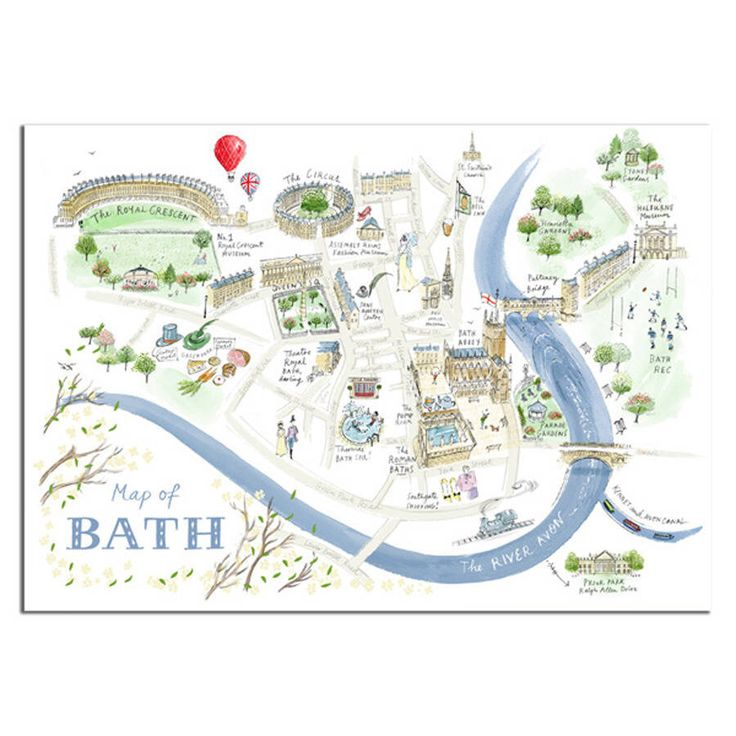 I've just found Alice Tait 'Map Of Bath' Print. This map captures all the beauty and softness of one of England's most famous and pretty Georgian cities.. £21.50
