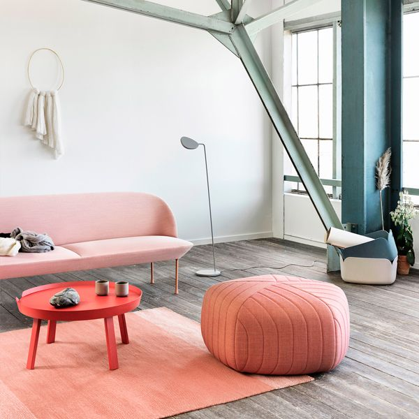 Muuto Five pouf, tangerine - Remix 632 | Muuto Five | Lounge & Poufs | Furniture | Finnish Design Shop
