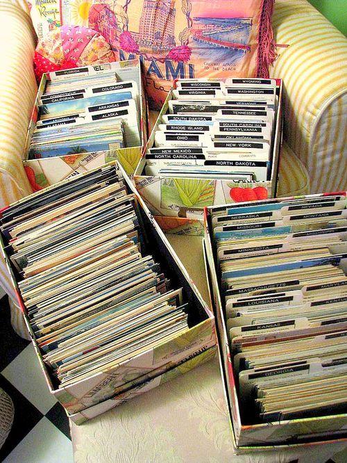 Идеи как хранить открытки