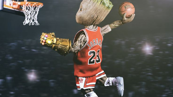 Baby Groot Playing Basketball Superheroes Wallpapers Hd Wallpapers Basketball Wallpapers Baby Groot Wallpapers Baby Groot Superhero Wallpaper Marvel Artwork