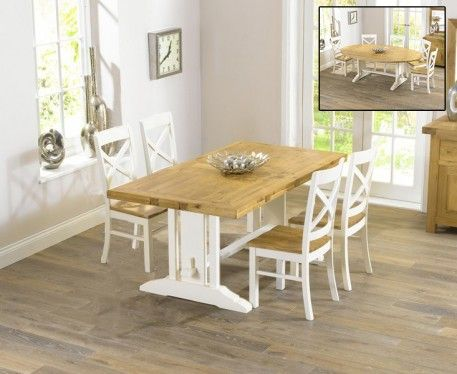 Shop The Cavendish Oak And Cream All Sides Extending Table With Chairs At Furniture Superstore Quick Delivery APR Available