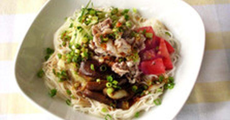 なすと豚肉の中華風そうめん by ライオン株式会社 [クックパッド] 簡単おいしいみんなのレシピが239万品
