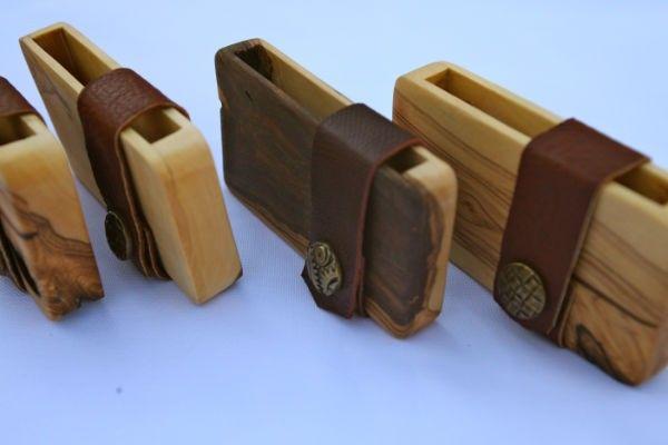 Wooden visiting card holder / credit card holder / wallet of olive wood thin model