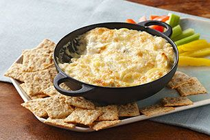 Watch now and dive into our tasty Savory Parmesan Spinach-Artichoke Dip! This spinach-artichoke dip takes 10 minutes of prep, great for Thanksgiving.