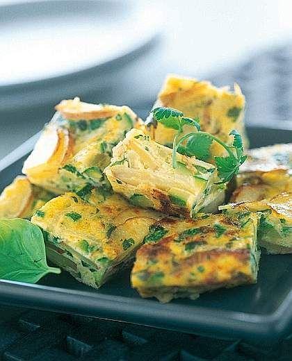Ricetta Cubetti di frittata con zucchine e patate - ANTIPASTI - Corriere della Sera