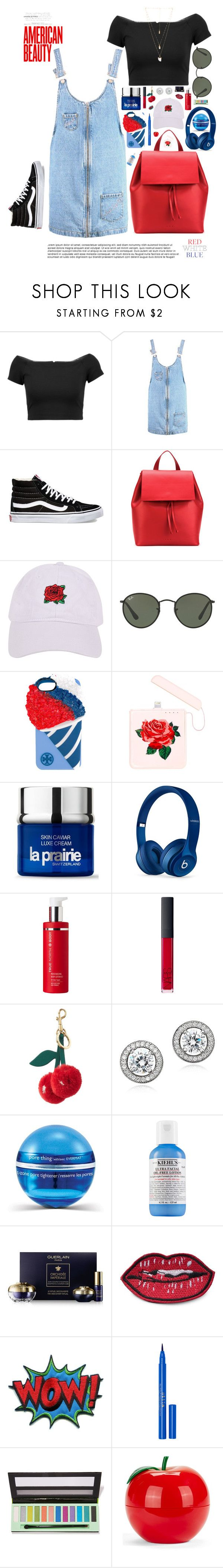 """America the Beautiful🇺🇸"" by imaniasaboor ❤ liked on Polyvore featuring Alice + Olivia, Boohoo, Vans, Aesther Ekme, Armitage Avenue, Ray-Ban, Tory Burch, ban.do, La Prairie and Beats by Dr. Dre"