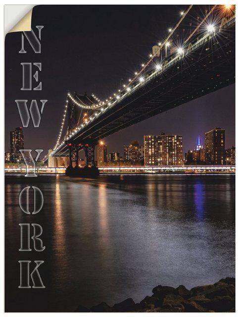 Wandfolie »Carina Buchspies: New York Manhattan Bridge«