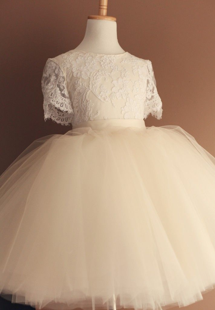 101 best images about flower girl on pinterest for White and champagne wedding dress