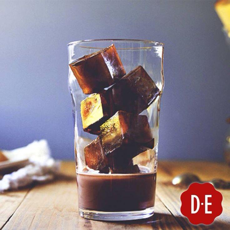 Koffie-ijsblokjes! Voor in glas melk