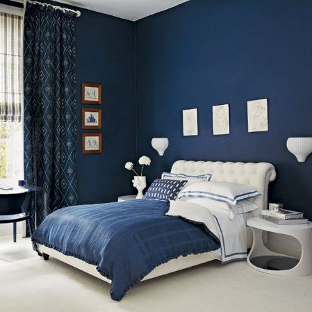 Love that blue... and that side table...