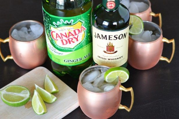 This Irish Mule combines Irish whiskey, ginger ale and lime for a fun twist on the classic Russian cocktail. Serve it in copper mugs to keep it icy cold! Thank you Dr Pepper Snapple Group and Perno…