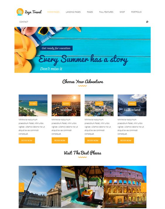 9 best 9 More of the Best WordPress Themes for Travel and Tourism ...