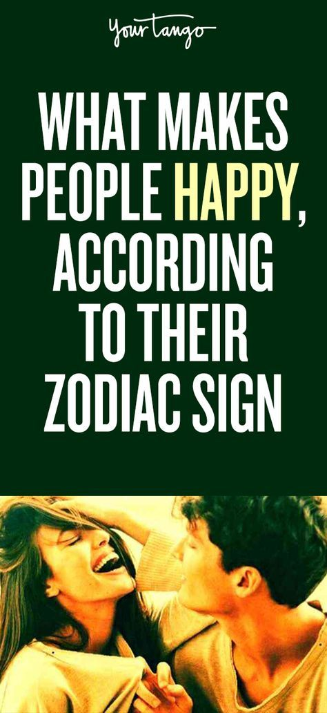 What makes people happy according their zodiac sign