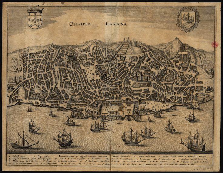 """C.C. 132 P2. , Matthäus Merian I (1593-1650) - """"Olisippo = Lisabona"""". [Frankfurt: Mattheus Merian, ca 1629]. BNP C.C. 132 P2"""