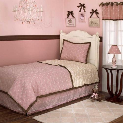 Best Pink And Brown Floral Flowers Girls Twin Size Quilt Kids 400 x 300