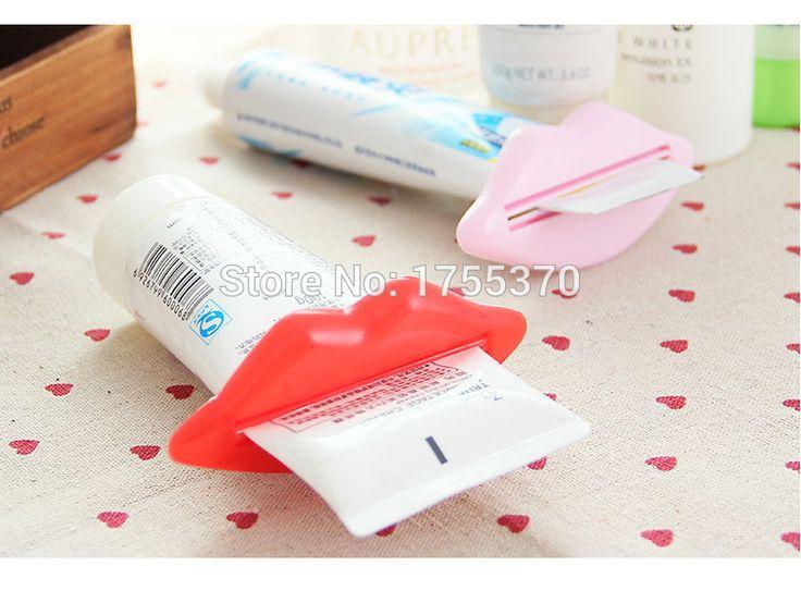 2ピースクリエイティブリップ歯磨き粉スクイズ多目的押出装置歯磨き粉ジェルクリームローションスクイーザ